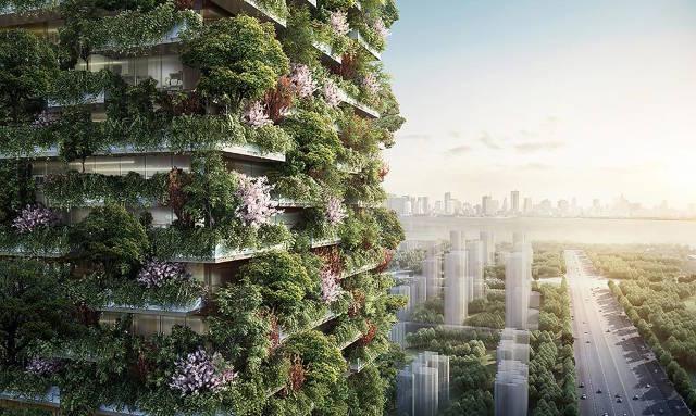 จีนเตรียมสร้าง ป่าแนวตั้ง ในเมืองหนานจิง เพื่อช่วยลดปัญหามลพิษ