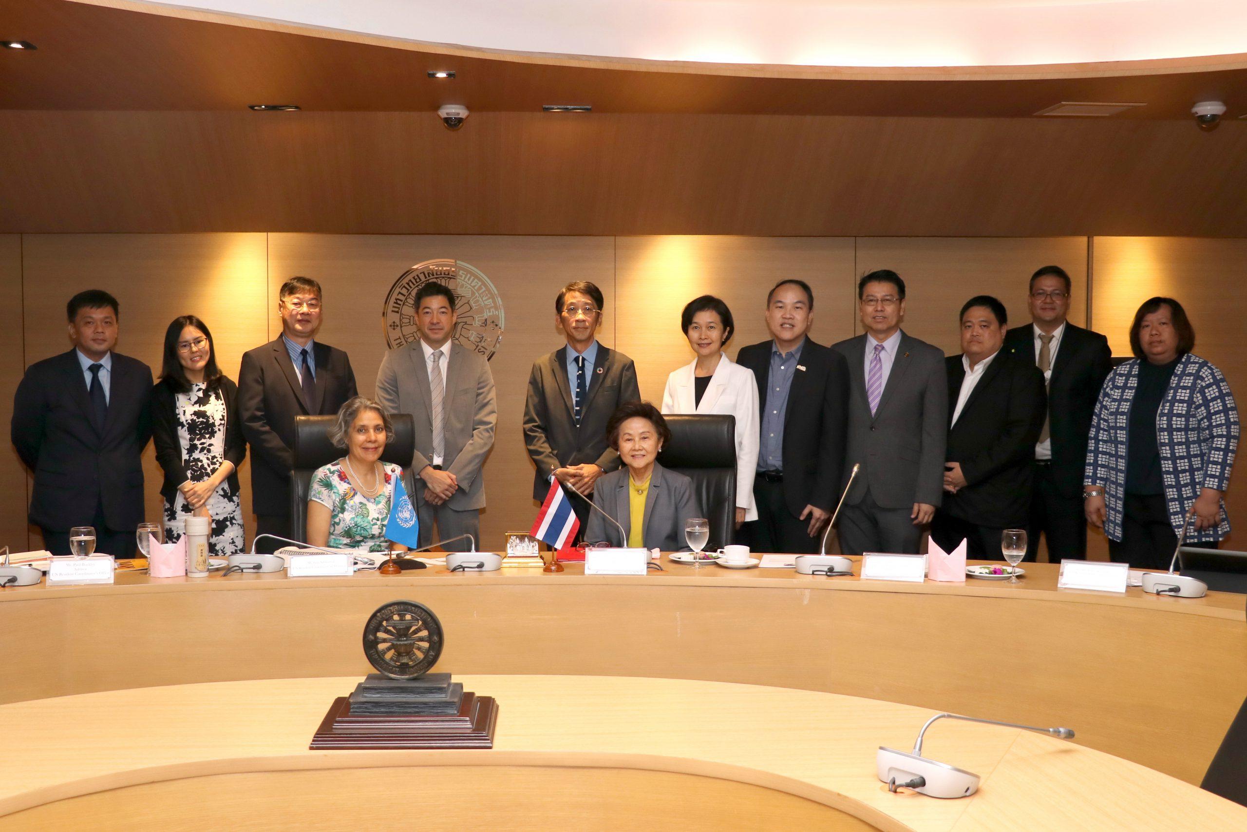 SDG Updates | SDG Move ประชุมหารือกับผู้ประสานงาน UN ประจำประเทศไทย ผลักดันความร่วมมือภาควิชาการเพื่อขับเคลื่อนการพัฒนาที่ยั่งยืน