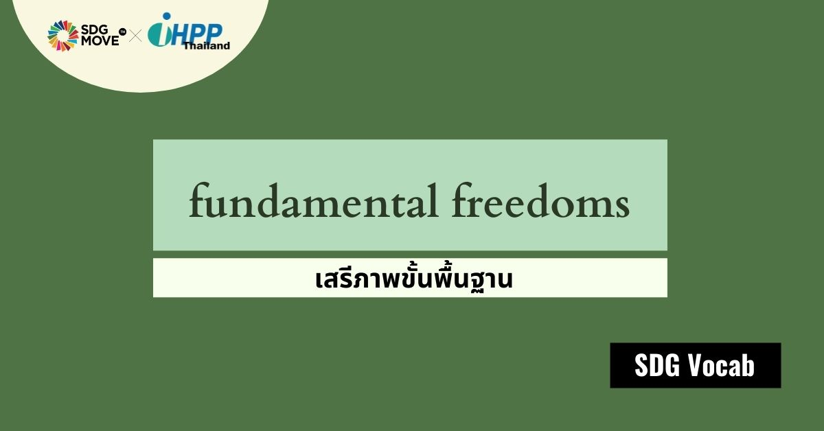 SDG Vocab | 53 – fundamental freedoms – เสรีภาพขั้นพื้นฐาน